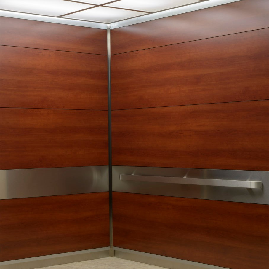 improved and redesigned elevator interior