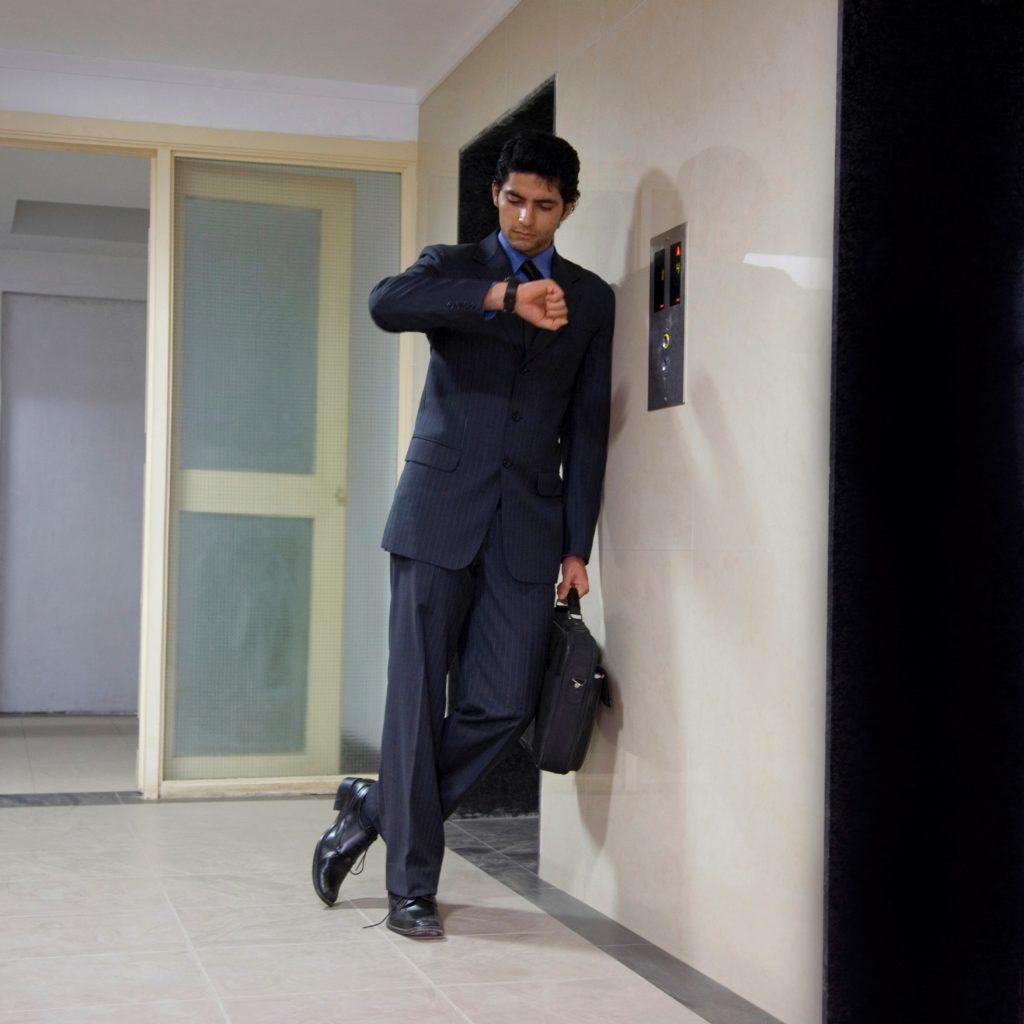 elevator waiting